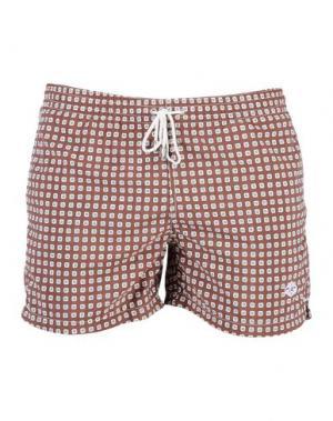 Пляжные брюки и шорты LUIGI BORRELLI NAPOLI. Цвет: какао