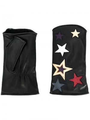 Перчатки-митенки Starette Agnelle. Цвет: чёрный
