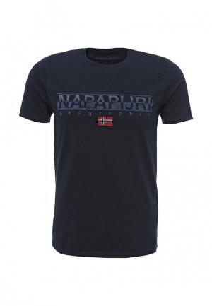 Футболка Napapijri. Цвет: синий