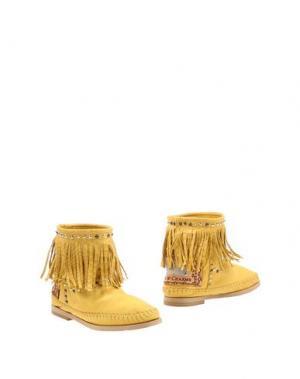 Полусапоги и высокие ботинки KARMA OF CHARME. Цвет: охра