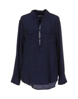 Блузка EQUIPMENT FEMME. Цвет: темно-синий