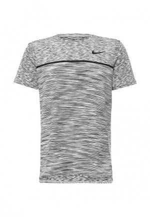 Футболка спортивная Nike. Цвет: черно-белый