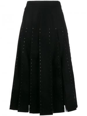 Декорированная юбка со складками Valentino. Цвет: none