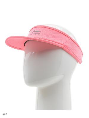 Козырёк LI-NING. Цвет: розовый