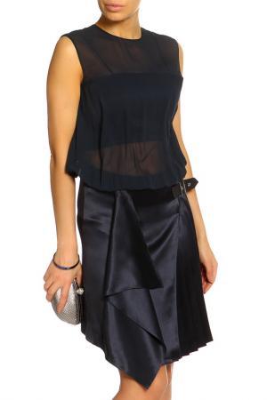 Платье Salvatore Ferragamo. Цвет: темно-синий