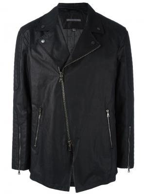 Куртка с асимметричной застежкой-молнией John Varvatos. Цвет: чёрный