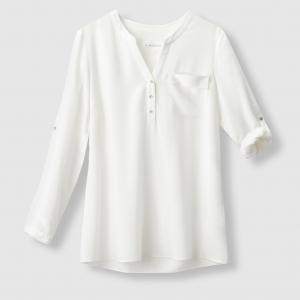 Рубашка без воротника. SUD EXPRESS. Цвет: экрю
