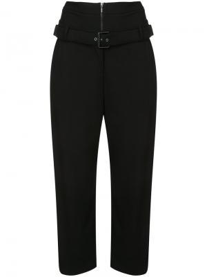 Укороченные брюки с двумя поясами Osklen. Цвет: чёрный