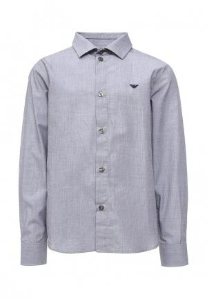 Рубашка Armani Junior. Цвет: серый
