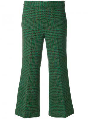 Укороченные брюки с вышивкой LAutre Chose L'Autre. Цвет: зелёный