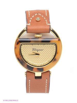 Часы Salvatore Ferragamo. Цвет: оранжевый