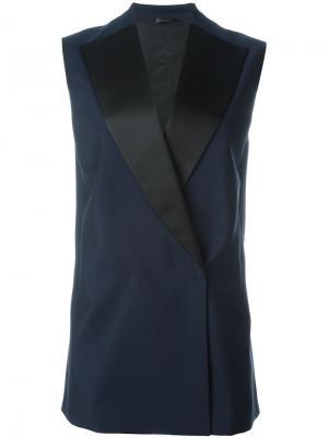 Пиджак без рукавов Jil Sander. Цвет: синий