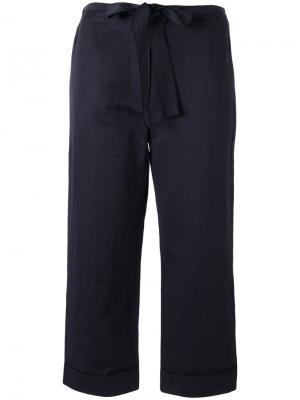 Укороченные брюки с поясом Sara Lanzi. Цвет: чёрный