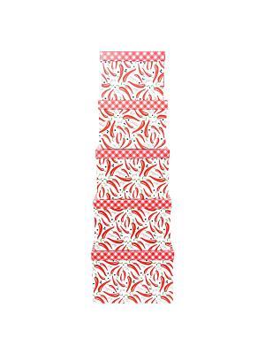 Коробка картонная, набор из 5шт. 22х22х16 - 30х30х20 см. Перец чили и красные ромбы. VELD-CO. Цвет: красный, белый