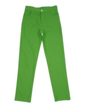 Повседневные брюки LA STUPENDERIA. Цвет: кислотно-зеленый