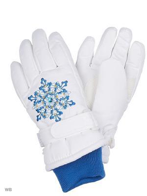 Перчатки Кроха. Цвет: белый, синий