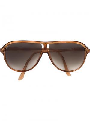 Солнцезащитные очки с каплевидной оправой Courrèges Vintage. Цвет: коричневый