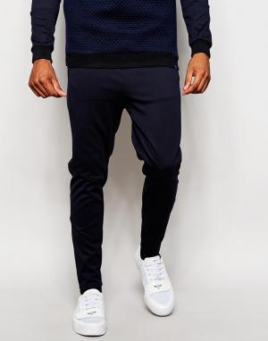 2 x H Brothers Облегающие спортивные штаны 2x. Цвет: синий
