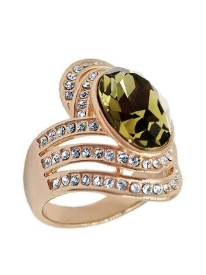 Кольцо Taya LX. Цвет: зеленый, золотистый
