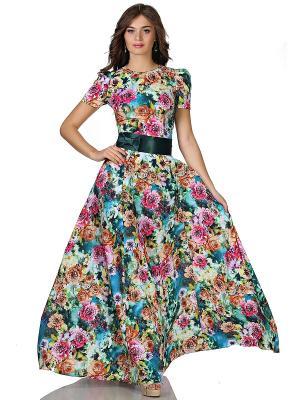 Платье OLIVEGREY. Цвет: синий, коричневый