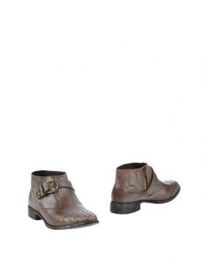 Полусапоги и высокие ботинки CRIME London. Цвет: голубиный серый