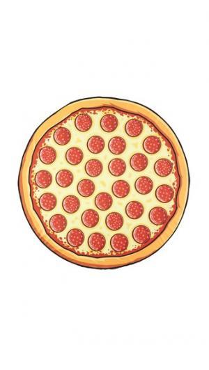 Большое пляжное покрывало в форме пиццы Gift Boutique. Цвет: красный