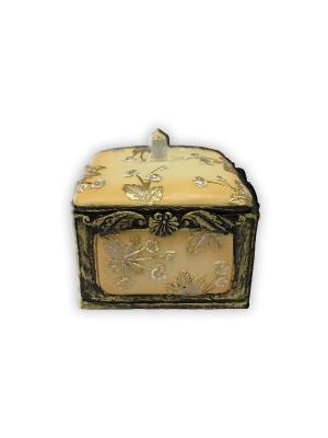 Шкатулка декоративная Желтая из полирезины, 7,5х7,5х6см Magic Home. Цвет: бежевый