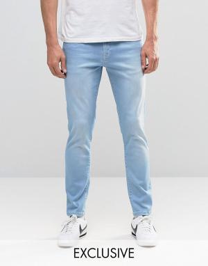 Brooklyn Supply Co. Светлые джинсы скинни с контрастной отделкой Co. Цвет: синий