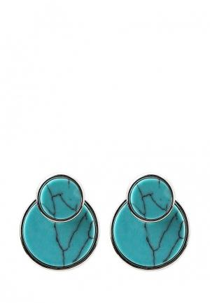 Серьги Taya. Цвет: бирюзовый