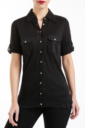 Рубашка LES ATELIERS DE LA MAILLE. Цвет: черный
