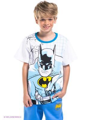 Футболка Batman. Цвет: белый, бирюзовый