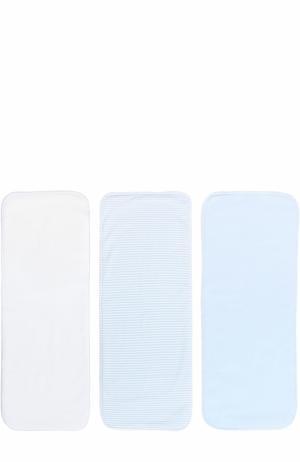 Комплект из трех полотенец Kissy. Цвет: голубой