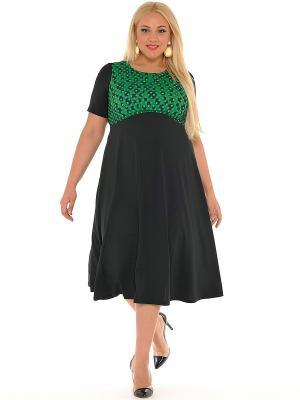 Платье SVESTA. Цвет: черный, зеленый