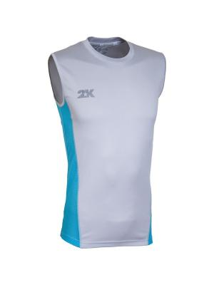 Майка тренировочная Fenix 2K. Цвет: серебристый, голубой
