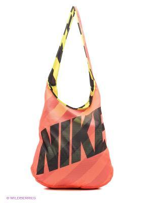 Сумка GRAPHIC REVERSIBLE TOTE Nike. Цвет: коралловый, желтый
