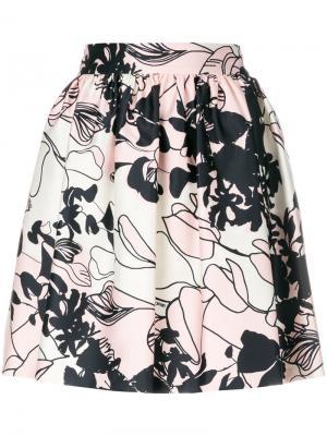 Юбка Romantic Liu Jo. Цвет: розовый и фиолетовый