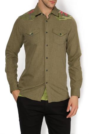 Рубашка 55DSL. Цвет: зеленый
