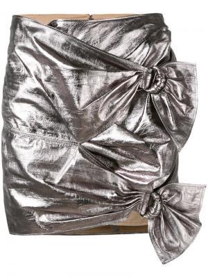 Юбка с отделкой металлик Isabel Marant. Цвет: металлический