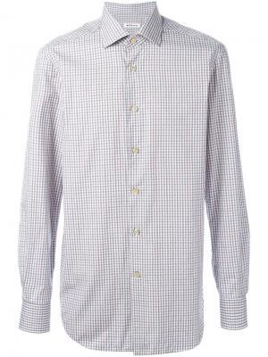 Рубашка в клетку Kiton. Цвет: многоцветный