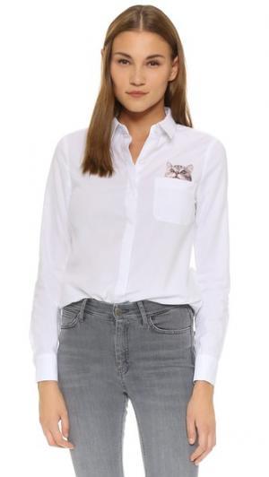 Рубашка на пуговицах Chaperche Paul & Joe Sister. Цвет: белый