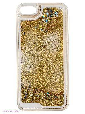 Чехол для iPhone 5/5s Liquid Stars (золотой) Kawaii Factory. Цвет: золотистый