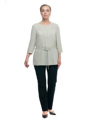 Блуза OLSI. Цвет: оливковый