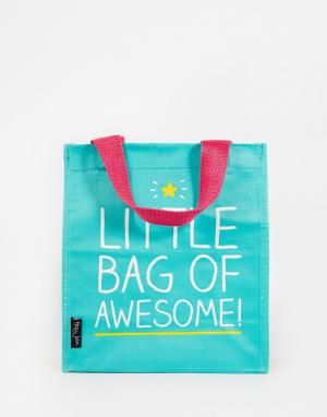 Happy Jackson Сумка для ланча Little Bag of Awesome Lunch. Цвет: зеленый