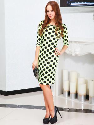 Платье Lussotico. Цвет: салатовый, белый, черный