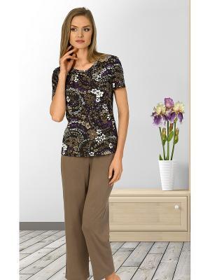 Пижама Vaide. Цвет: коричневый