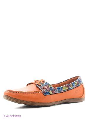 Мокасины Goergo. Цвет: оранжевый