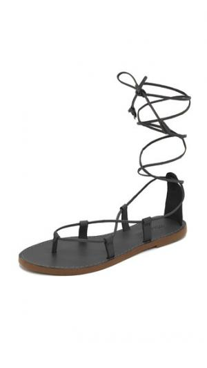 Гладиаторские сандалии Kana на шнуровке Madewell. Цвет: настоящий черный
