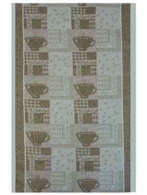 Полотенце Кофе Белорусский Лен. Цвет: серый, коричневый