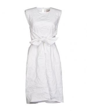 Платье до колена GALITZINE. Цвет: белый