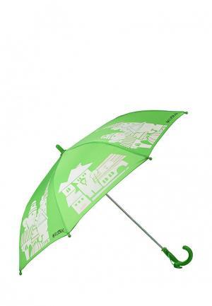 Зонт складной Flioraj. Цвет: зеленый